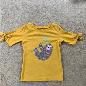 Girls size 4 Sequined Sloth Shirt